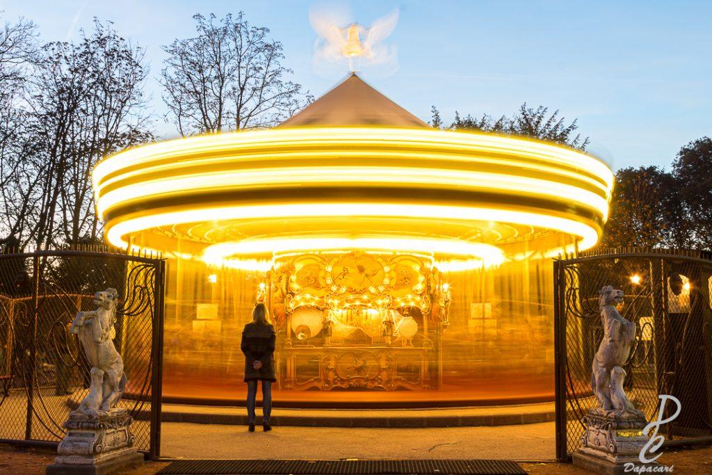 manège du parc de la tête d'or en pose longue