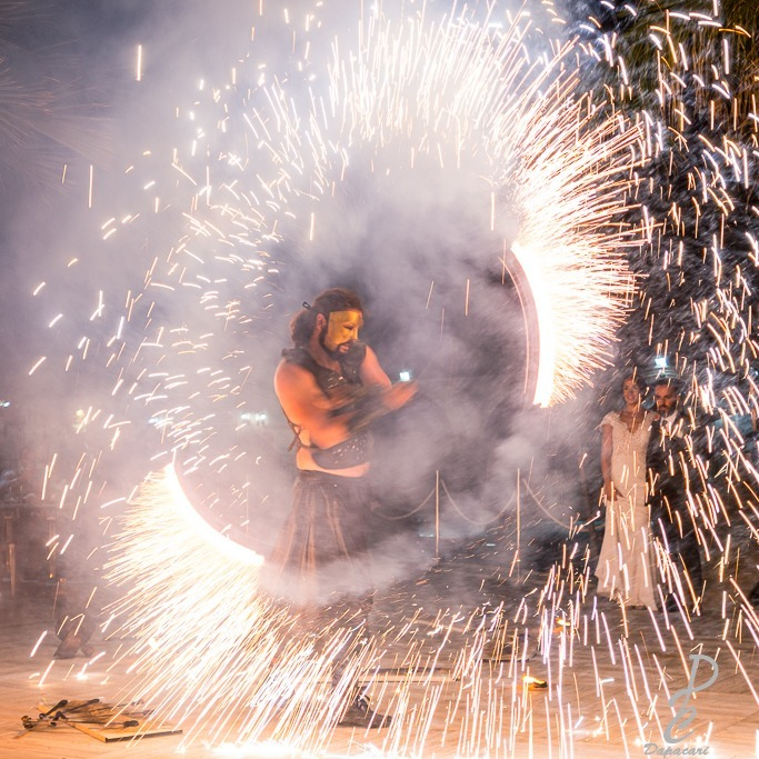 photographe à Lyon pendant un mariage, mouvement du feu