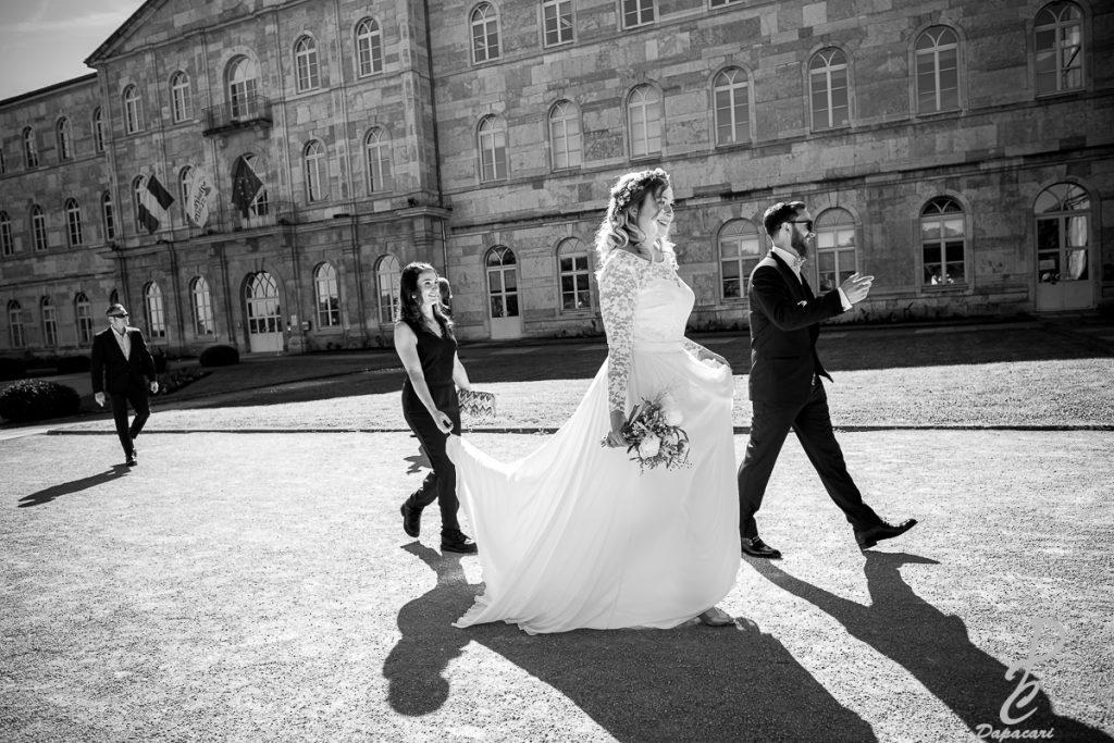 mariage noir et blanc photographe lyon
