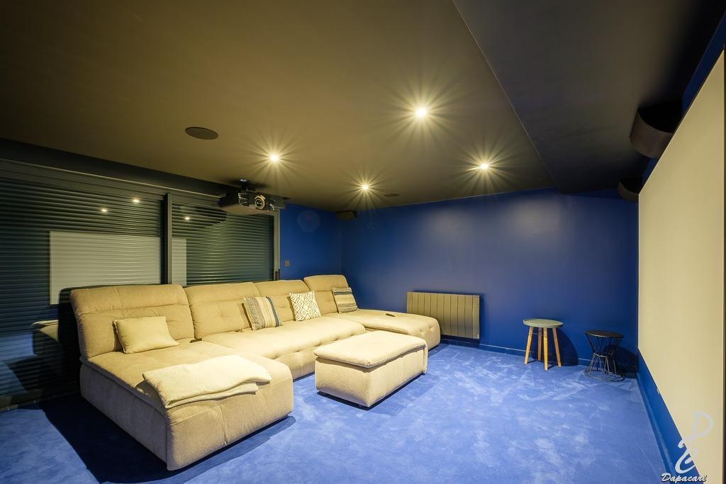 salle de cinéma dans villa lyon